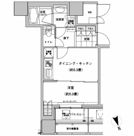 ウエストパークタワー池袋1801号室