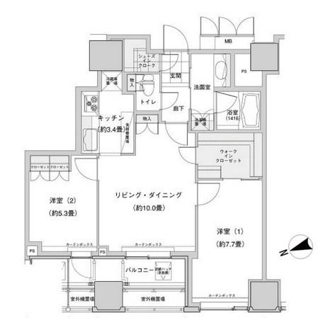 ウエストパークタワー池袋1803号室