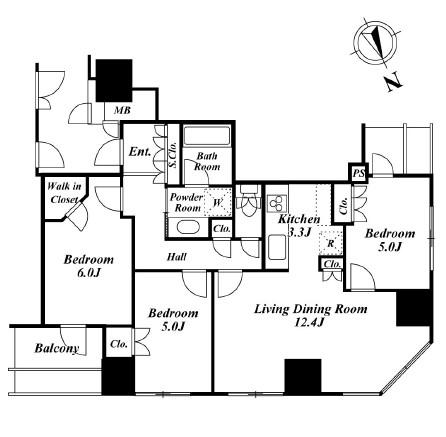 ウエストパークタワー池袋1902号室