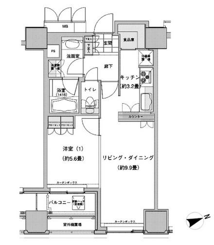 ウエストパークタワー池袋2211号室