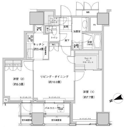 ウエストパークタワー池袋2303号室