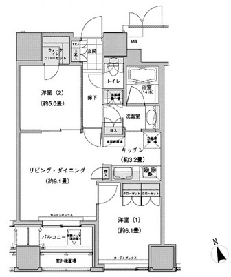 ウェストパークタワー池袋2307号室