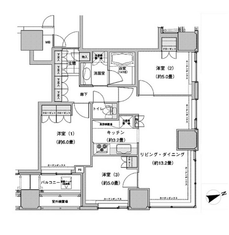 ウエストパークタワー池袋2312号室