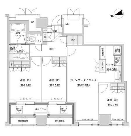 ウエストパークタワー池袋2603号室