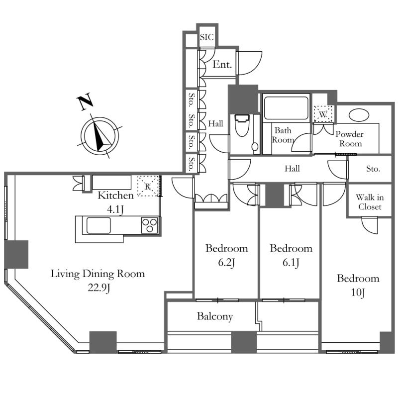 ウエストパークタワー池袋3104号室