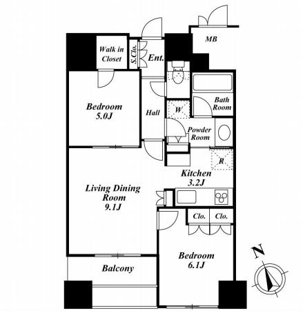 ウエストパークタワー池袋407号室
