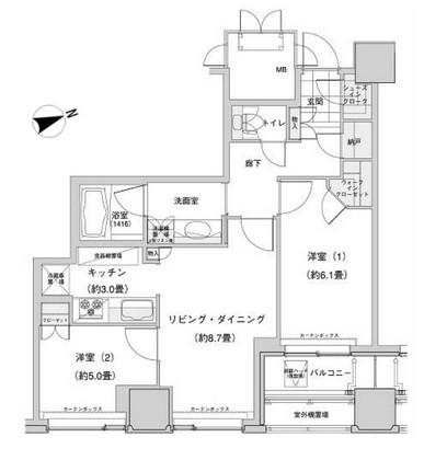 ウエストパークタワー池袋 410号室