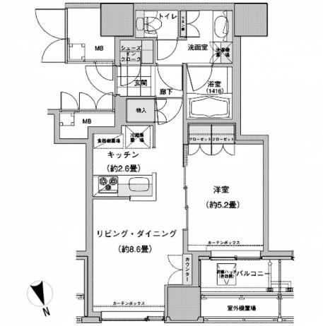 ウエストパークタワー池袋615号室