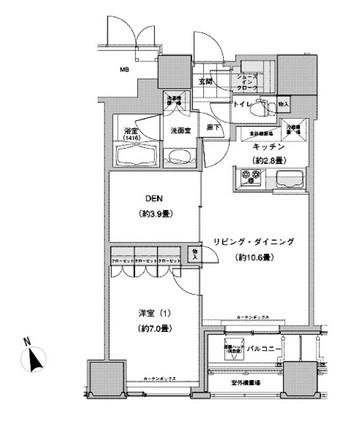 ウエストパークタワー池袋 708号室