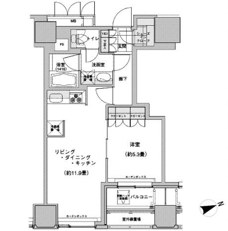 ウェストパークタワー池袋 712号室