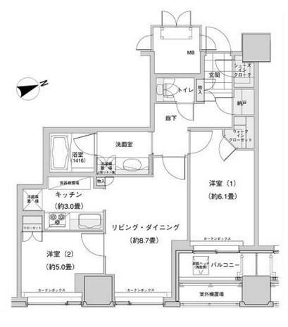 ウェストパークタワー池袋910号室
