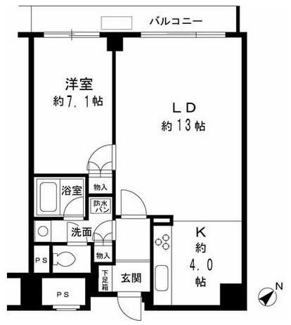 ルシマン月島1001号室