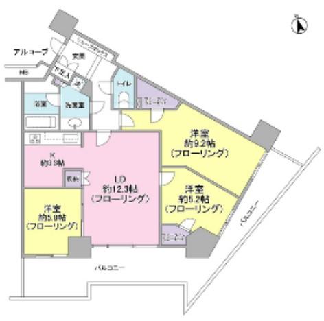 キャピタルマークタワー1310号室
