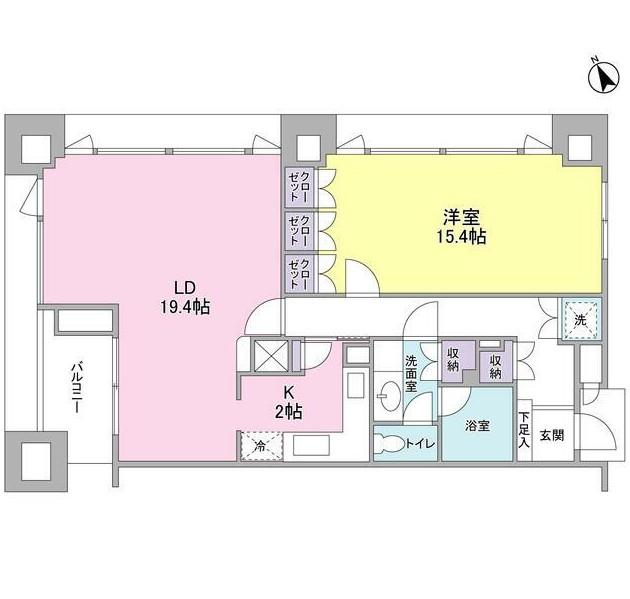 愛宕ビューアパートメント1501号室