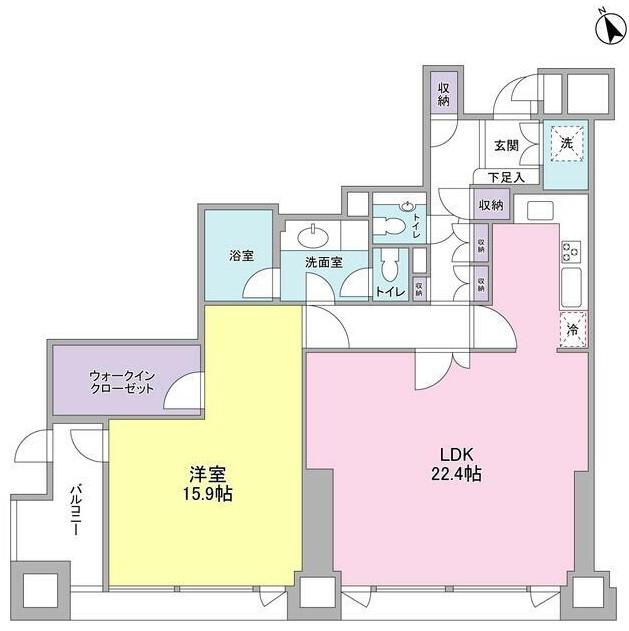 愛宕ビューアパートメント1603号室