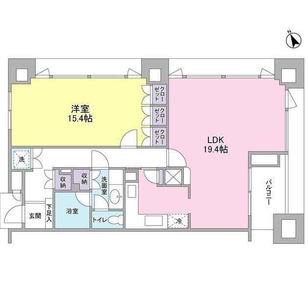 愛宕ビューアパートメント1606号室