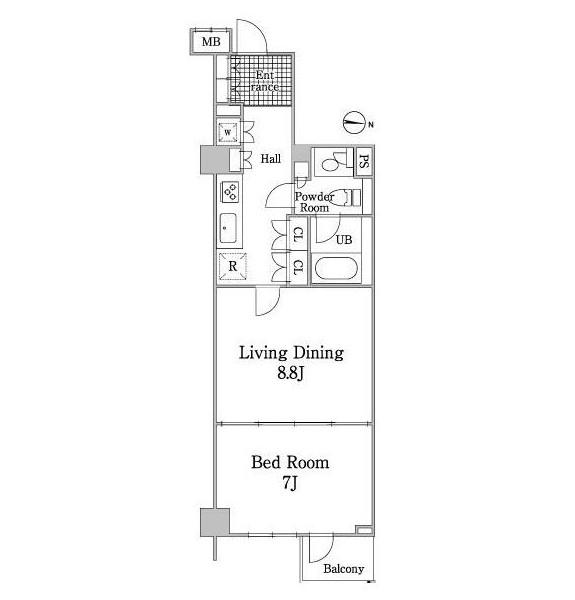グレイスコート白金205号室
