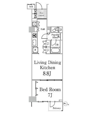 グレイスコート白金305号室