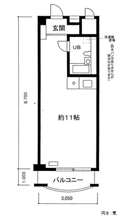 パークグレース新宿416号室