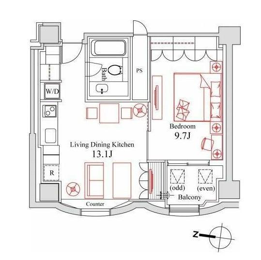 ハンドレッドステイレジデンス1002号室