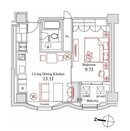 ハンドレッドステイレジデンス1102号室