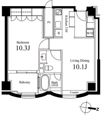 ハンドレッドステイレジデンス1105号室
