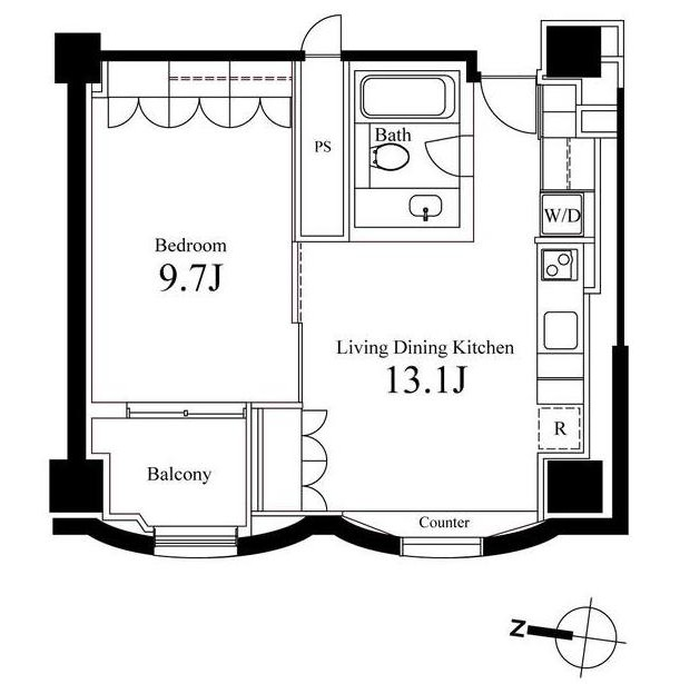 ハンドレッドステイレジデンス1201号室