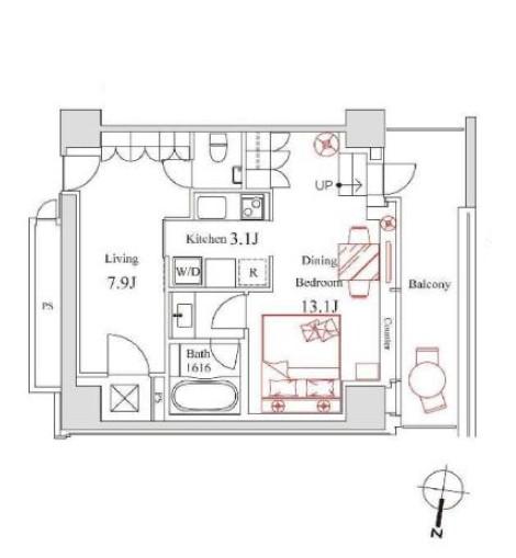 ハンドレッドステイレジデンス303号室