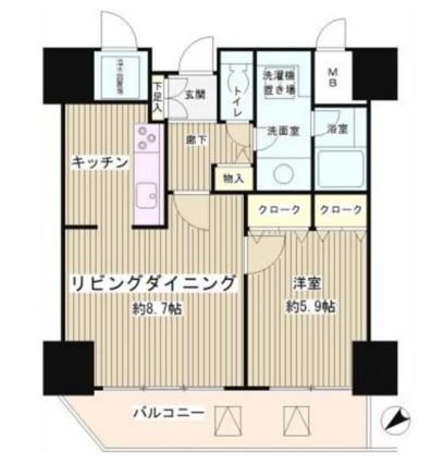 トレステージ目黒1106号室