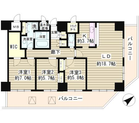 トレステージ目黒1601号室