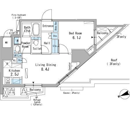 パークアクシス駒込701号室