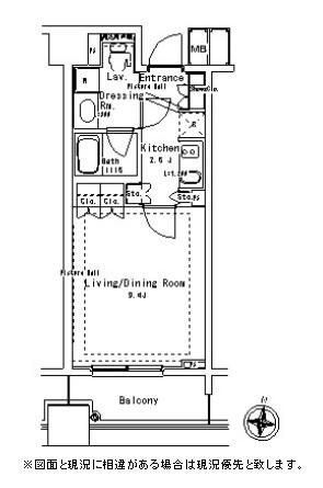 パークアクシス御茶ノ水ステージ1102号室