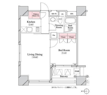 パークキューブ八丁堀804号室