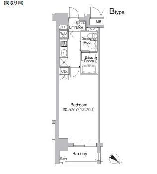 レジディア市ヶ谷Ⅱ402号室