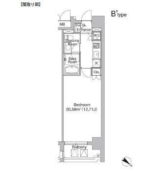 レジディア市ヶ谷Ⅱ405号室