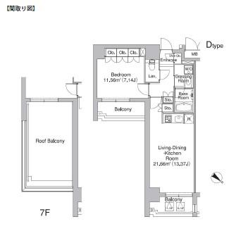 レジディア市ヶ谷Ⅱ801号室