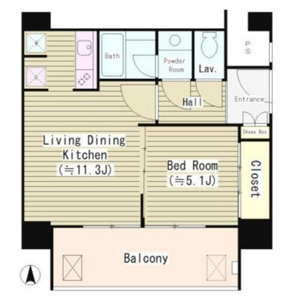 リバー&タワー804号室