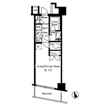 パークアクシス銀座イースト303号室