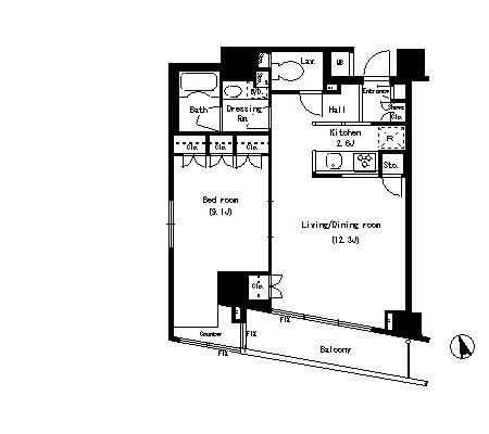 パークアクシス銀座イースト801号室