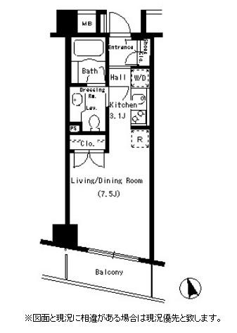 パークアクシス銀座イースト802号室