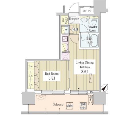 ユニゾンタワー1005号室