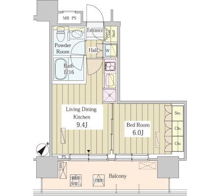 ユニゾンタワー1208号室