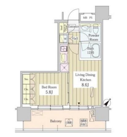 ユニゾンタワー1305号室