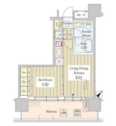 ユニゾンタワー1605号室
