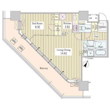 ユニゾンタワー1804号室