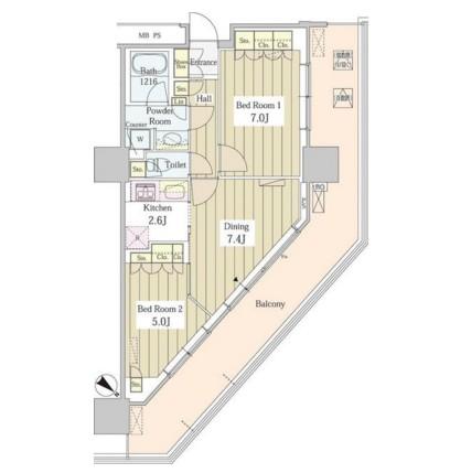 ユニゾンタワー1812号室