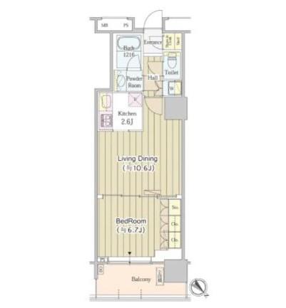 ユニゾンタワー2109号室