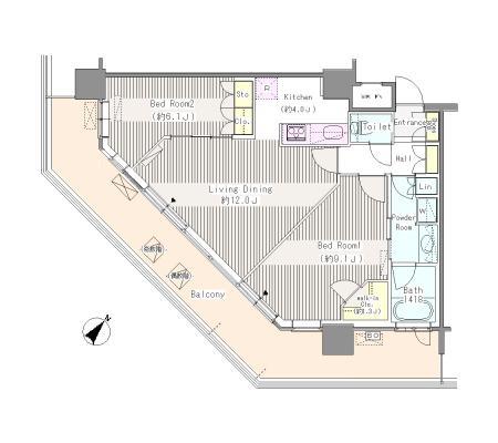 ユニゾンタワー2303号室