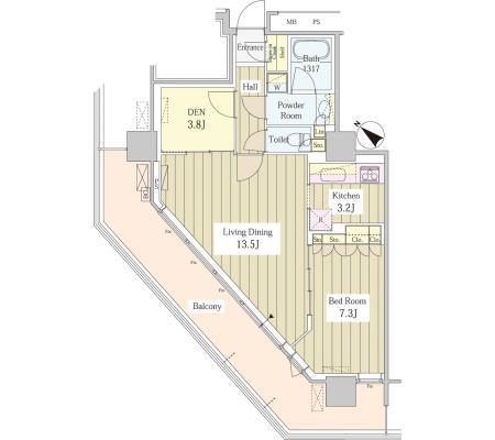 ユニゾンタワー2501号室