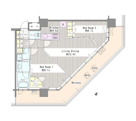 ユニゾンタワー2506号室